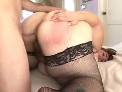 Guy fucks cute fatty with giant ass bbw sex