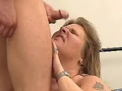 Obese lady gets hot cum in mouth bbw sex