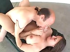 Chubby milf with giant tits sucks hard cock of man bbw sex
