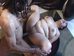 Black guy drills asian chubby slut bbw sex