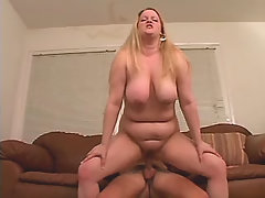 Busty greasy blonde fucking w dude bbw sex